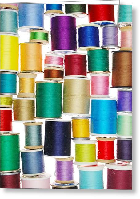 Repaired Greeting Cards - Stack of Thread Greeting Card by Jim Hughes