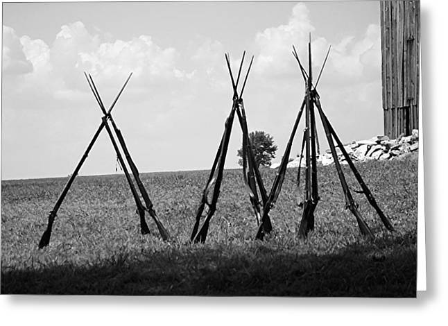150th Commemoration Greeting Cards - Stacked Arms - Richmond KY Greeting Card by Thia Stover