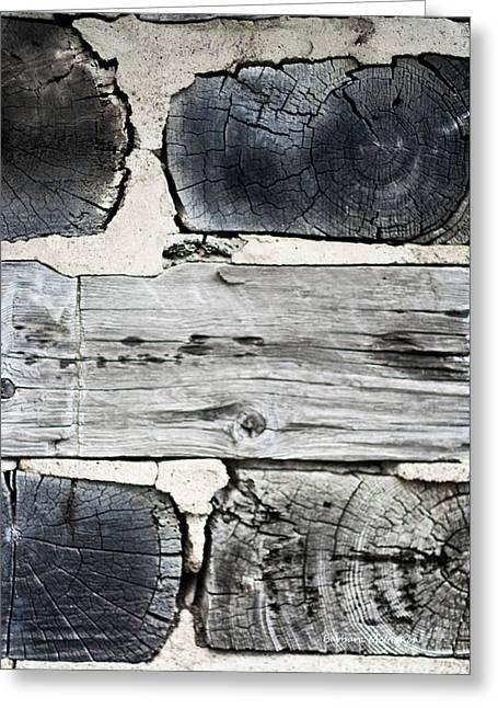 Stacked Block Abstract Greeting Card by Barbara McMahon