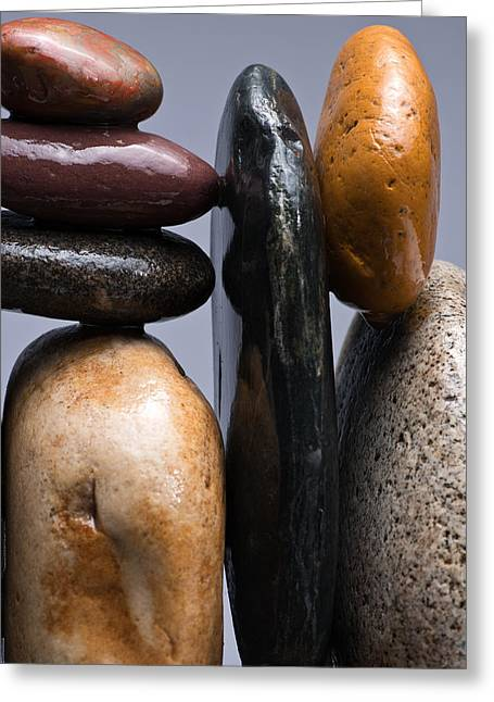 Pebbles Greeting Cards - Stacked Stones 4 Greeting Card by Steve Gadomski