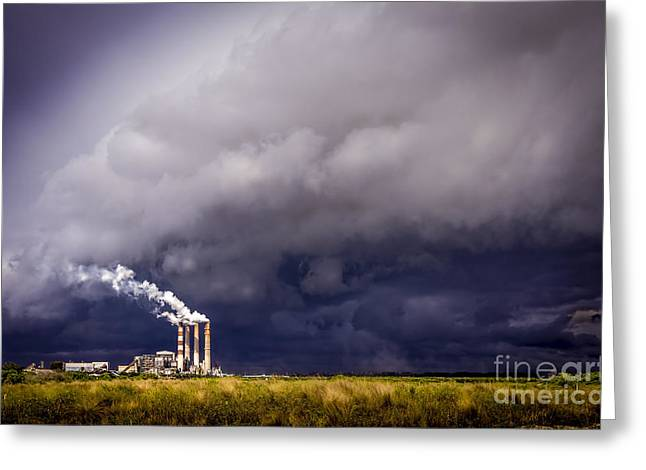 Stack Greeting Cards - Stacks in the Clouds Greeting Card by Marvin Spates