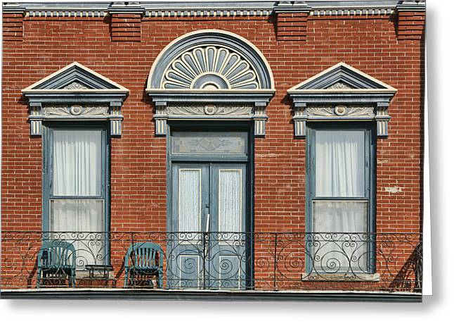 Transoms Greeting Cards - Stadelman Building - Plattsmouth - Nebraska Greeting Card by Nikolyn McDonald