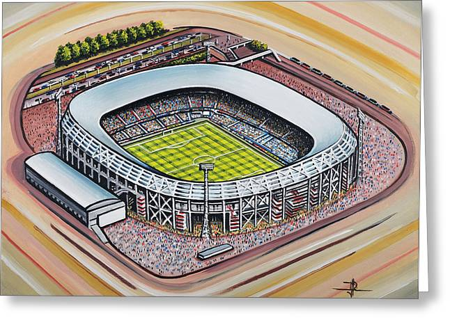 Soccer Greeting Cards Greeting Cards - Stadion Feijenoord - Feyenoord Greeting Card by D J Rogers