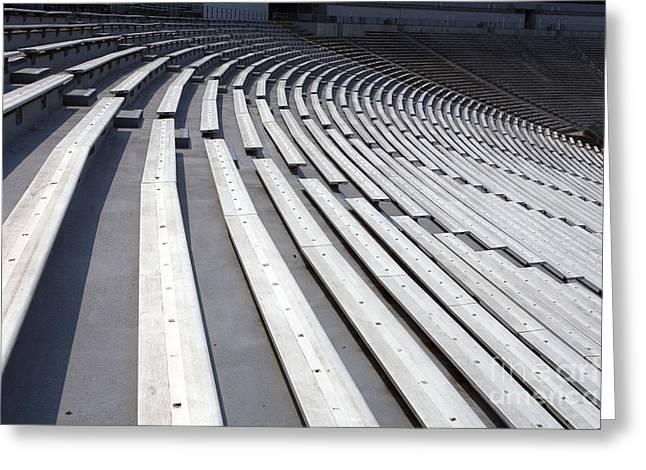 Wahoo Greeting Cards - Stadium Bleachers Greeting Card by Jason O Watson