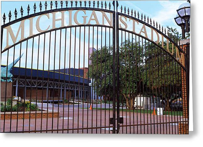 Stadium Of A University, Michigan Greeting Card by Panoramic Images