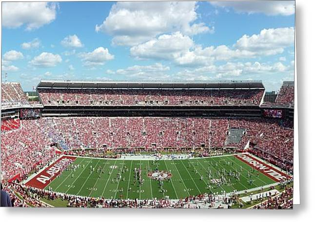 Bryant Denny Greeting Cards - Stadium Panorama View Greeting Card by Kenny Glover