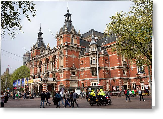 Citizens Greeting Cards - Stadsschouwburg Theatre in Amsterdam Greeting Card by Artur Bogacki