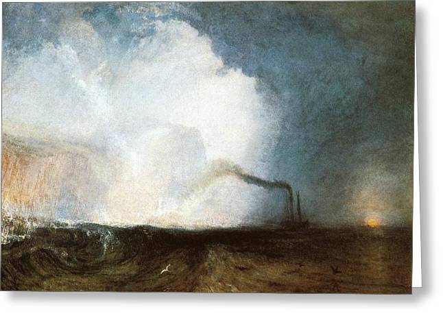 Painter Of Light Greeting Cards - Staffa Fingals Cave 1832 Greeting Card by J M W Turner