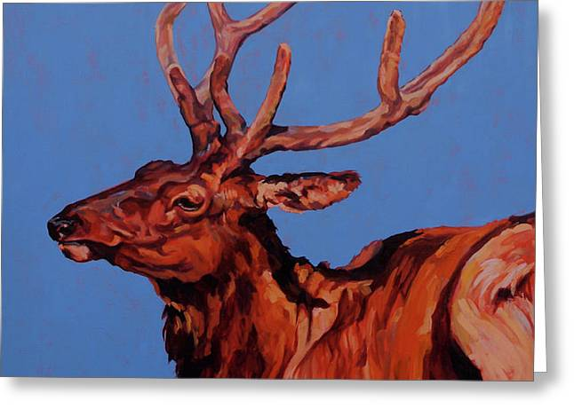 STAG Greeting Card by Patricia A Griffin