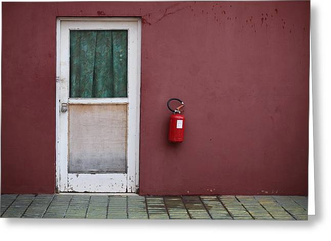 Screen Doors Greeting Cards - Stage Door Greeting Card by Jim Nelson