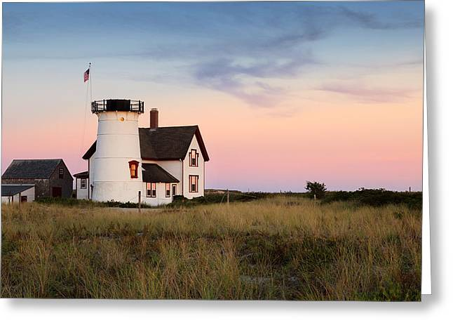 New England Lighthouse Greeting Cards - Stage Harbor light Greeting Card by Bill  Wakeley