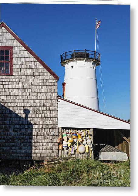 Chatham Greeting Cards - Stage Harbor Light Greeting Card by John Greim