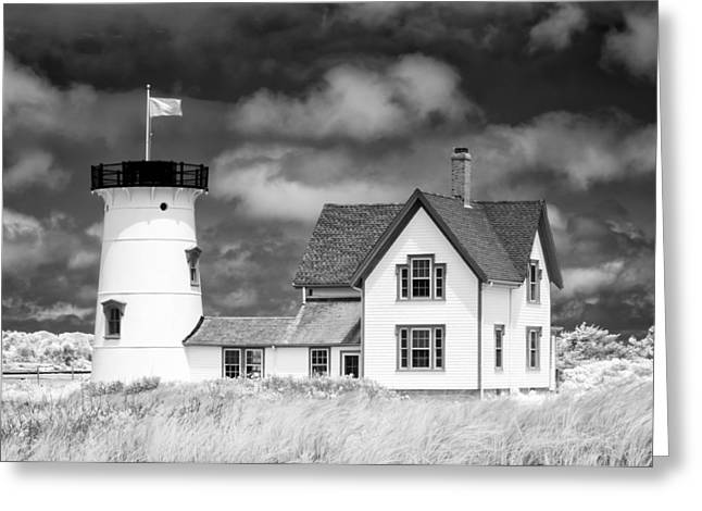 Chatham Greeting Cards - Stage Harbor Light Greeting Card by Michael Blanchette