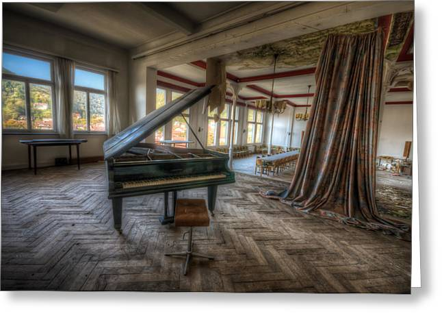 Haunted House Digital Greeting Cards - Stage view Greeting Card by Nathan Wright