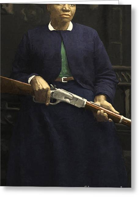 Postal Service Greeting Cards - Stagecoach Mary Fields 20130518 vertical Greeting Card by Wingsdomain Art and Photography