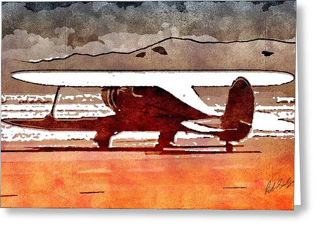 Tail-draggers Greeting Cards - Staggerwing Greeting Card by Robert Salazar