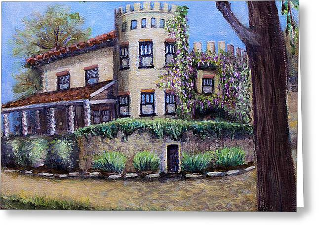 California Vineyard Paintings Greeting Cards - Stags Leap Manor House Greeting Card by Rita Brown