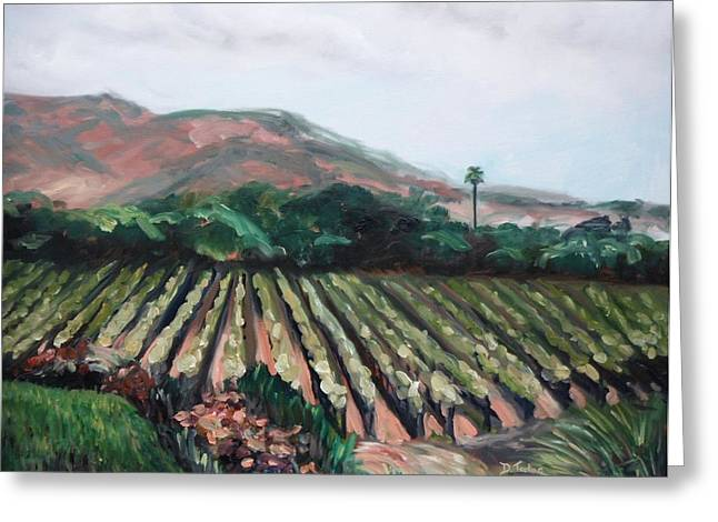 Mountain Valley Greeting Cards - Stags Leap Vineyard Greeting Card by Donna Tuten