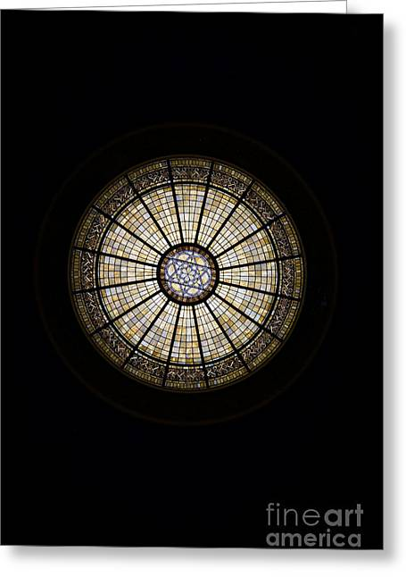 Sanitarium Greeting Cards - Stain Glass Greeting Card by Mark Baker