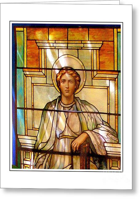 Saint Joseph Greeting Cards - Stain Glass Series Greeting Card by Marcia Lee Jones