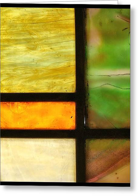 Faith Glass Greeting Cards - Stained Glass 5 Greeting Card by Tom Druin