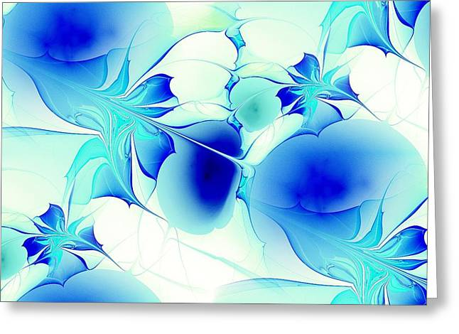 Turquoise Stained Glass Greeting Cards - Stained Glass Greeting Card by Anastasiya Malakhova