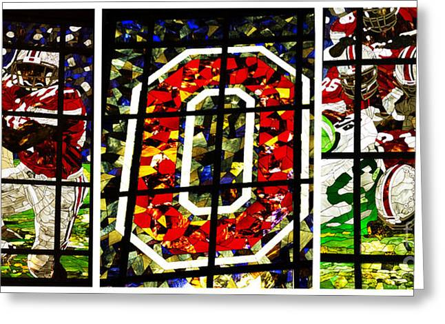 Stained Glass Greeting Cards - Stained Glass at the Horseshoe Greeting Card by David Bearden