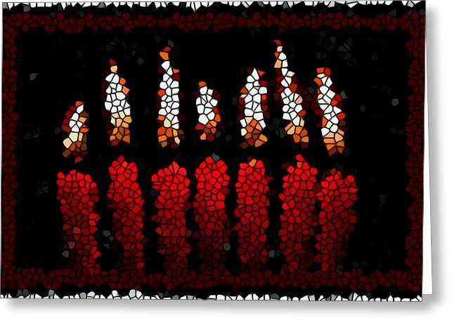 Stained Glass Candle Greeting Card by Lanjee Chee
