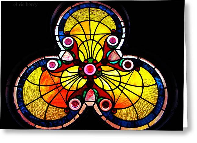 Religious Artist Photographs Greeting Cards - Stained Glass  Greeting Card by Chris Berry