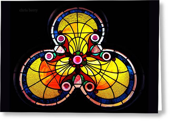 Portal Greeting Cards - Stained Glass  Greeting Card by Chris Berry