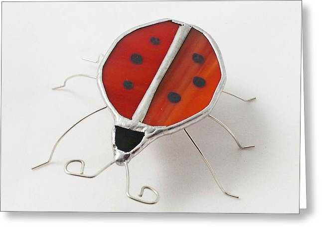 Lady Glass Greeting Cards - Stained Glass Critters by Michelle Lodge Greeting Card by Studio One Seventy Two