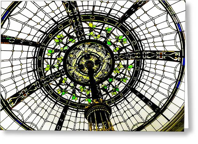 Stained Glass Dome Greeting Card by Jon Woodhams