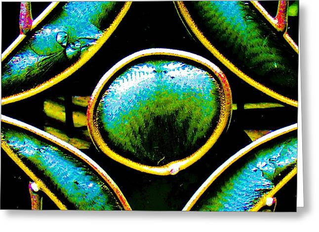 Discrimination Greeting Cards - Stained Glass Eye Greeting Card by Rebecca Flaig