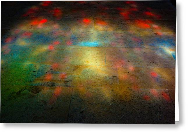 Darren Greeting Cards - Stained Glass Floor Rochester Greeting Card by Darren Peet