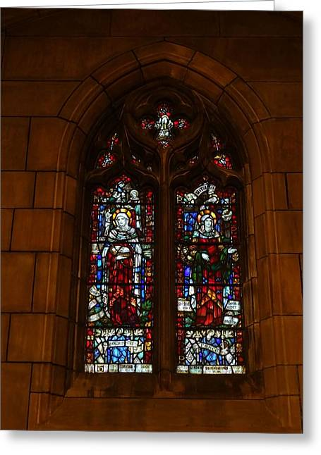 Rosary Greeting Cards - Stained Glass In New York City Greeting Card by Dan Sproul