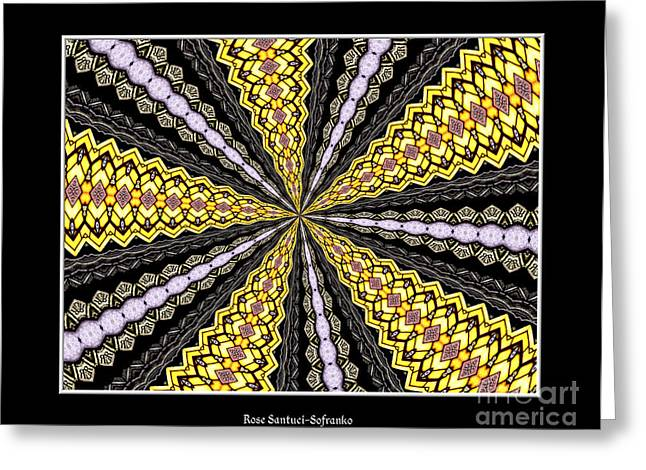 Avant Garde Photograph Greeting Cards - Stained Glass Kaleidoscope 11 Greeting Card by Rose Santuci-Sofranko