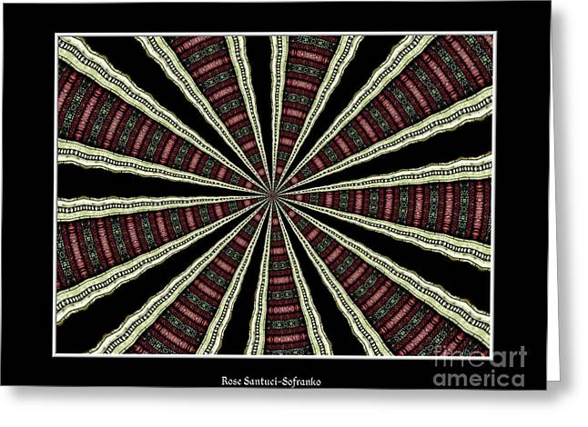 Avant Garde Photograph Greeting Cards - Stained Glass Kaleidoscope 14 Greeting Card by Rose Santuci-Sofranko