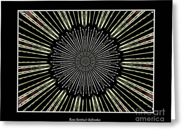 Avant Garde Photograph Greeting Cards - Stained Glass Kaleidoscope 9 Greeting Card by Rose Santuci-Sofranko