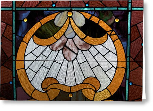 Stained Glass LC 09 Greeting Card by Thomas Woolworth