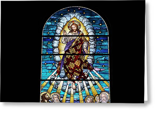 Colorful Photos Glass Art Greeting Cards - Stained Glass PC 02 Greeting Card by Thomas Woolworth