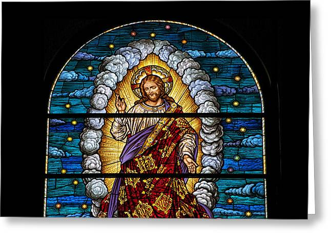 Stained Glass Pc 03 Greeting Card by Thomas Woolworth