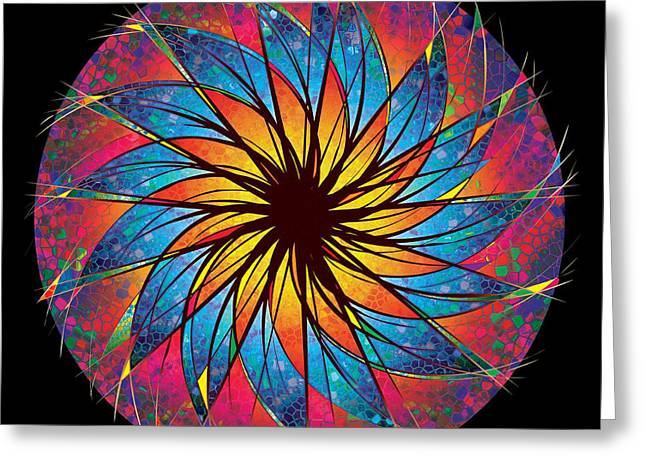 Robert Conway Greeting Cards - Stained Glass Greeting Card by Robert Conway