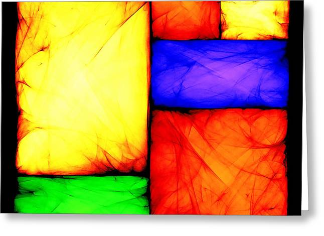 Algorithmic Abstract Greeting Cards - Stained Glass Greeting Card by Sander Kleynend