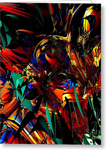 Vitrail Greeting Cards - Stained Glass - Saphir Greeting Card by Bernard MICHEL
