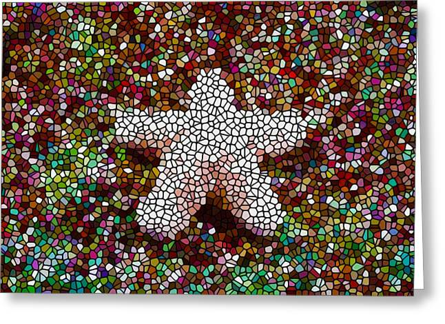 Granulatus Greeting Cards - Stained Glass Starfish Greeting Card by Lanjee Chee