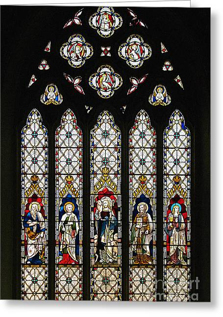 Stained-glass Window 1 Greeting Card by Susie Peek