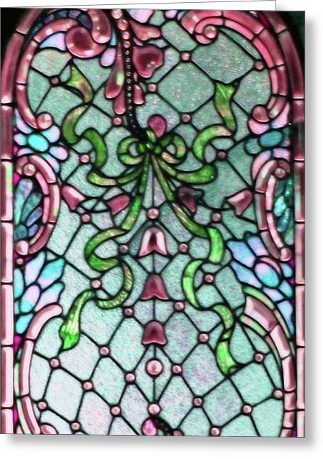 Stained Glass Window -2 Greeting Card by Kathleen Struckle