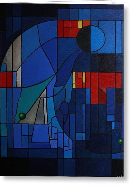 Alberto D-assumpcao Greeting Cards - Stained-glass Window Greeting Card by Alberto D-Assumpcao