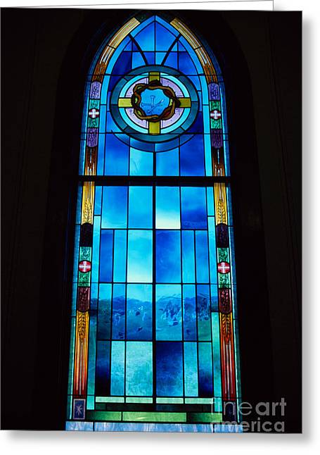 Stainglass Greeting Cards - Stained Glass Window, Idaho Greeting Card by William H. Mullins