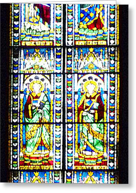 Stained Glass Window Of Duomo Santa Maria Del Fiore Greeting Card by Irina Sztukowski